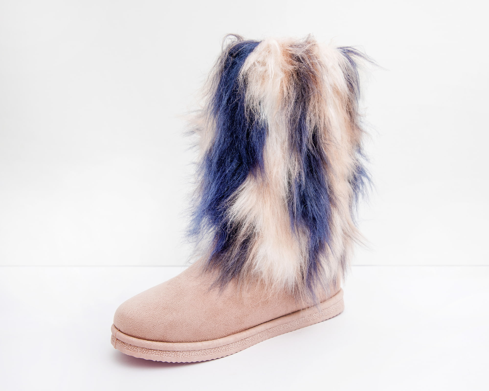 Product photo of pink and blue fury boot