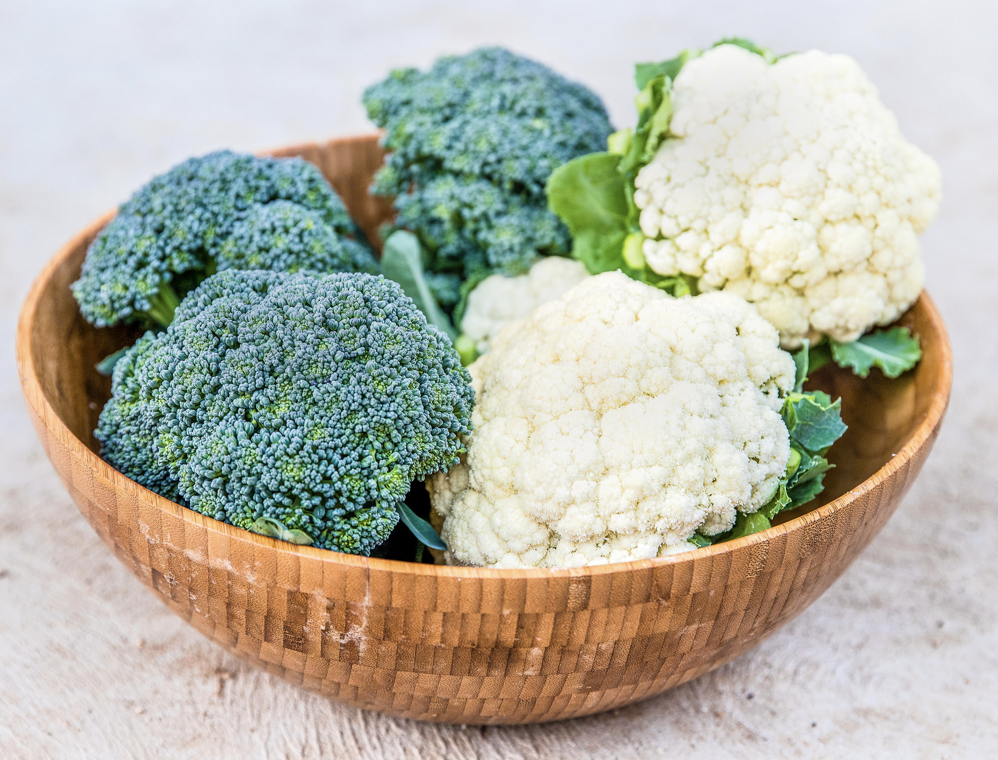 bowl of broccoli and cauliflower