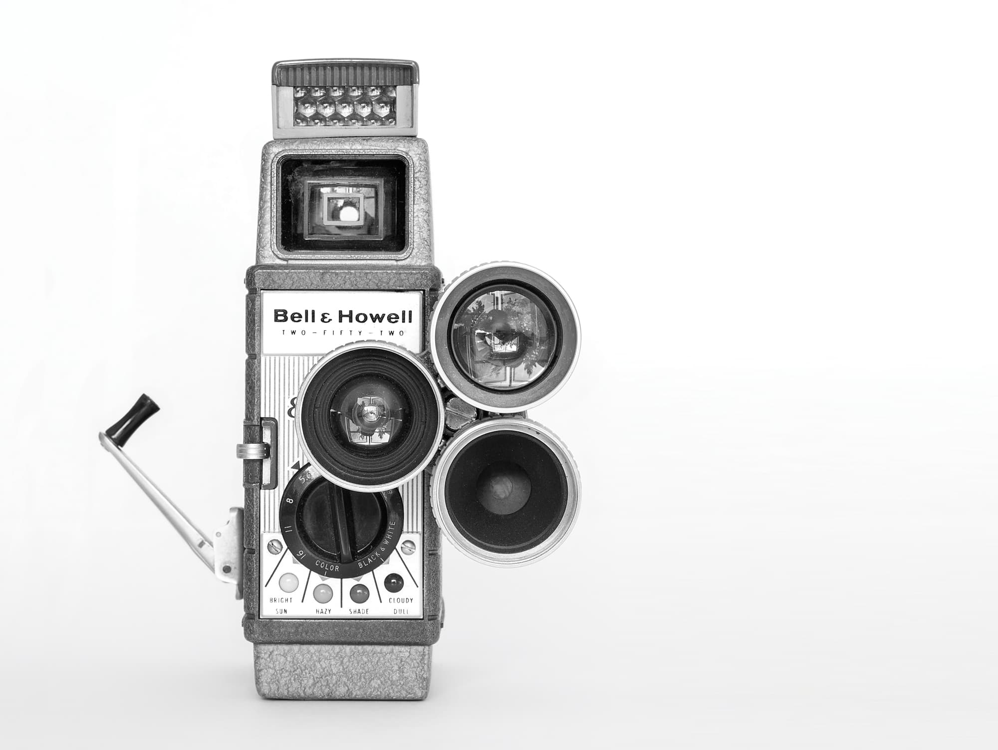 old howell video camera in black and white