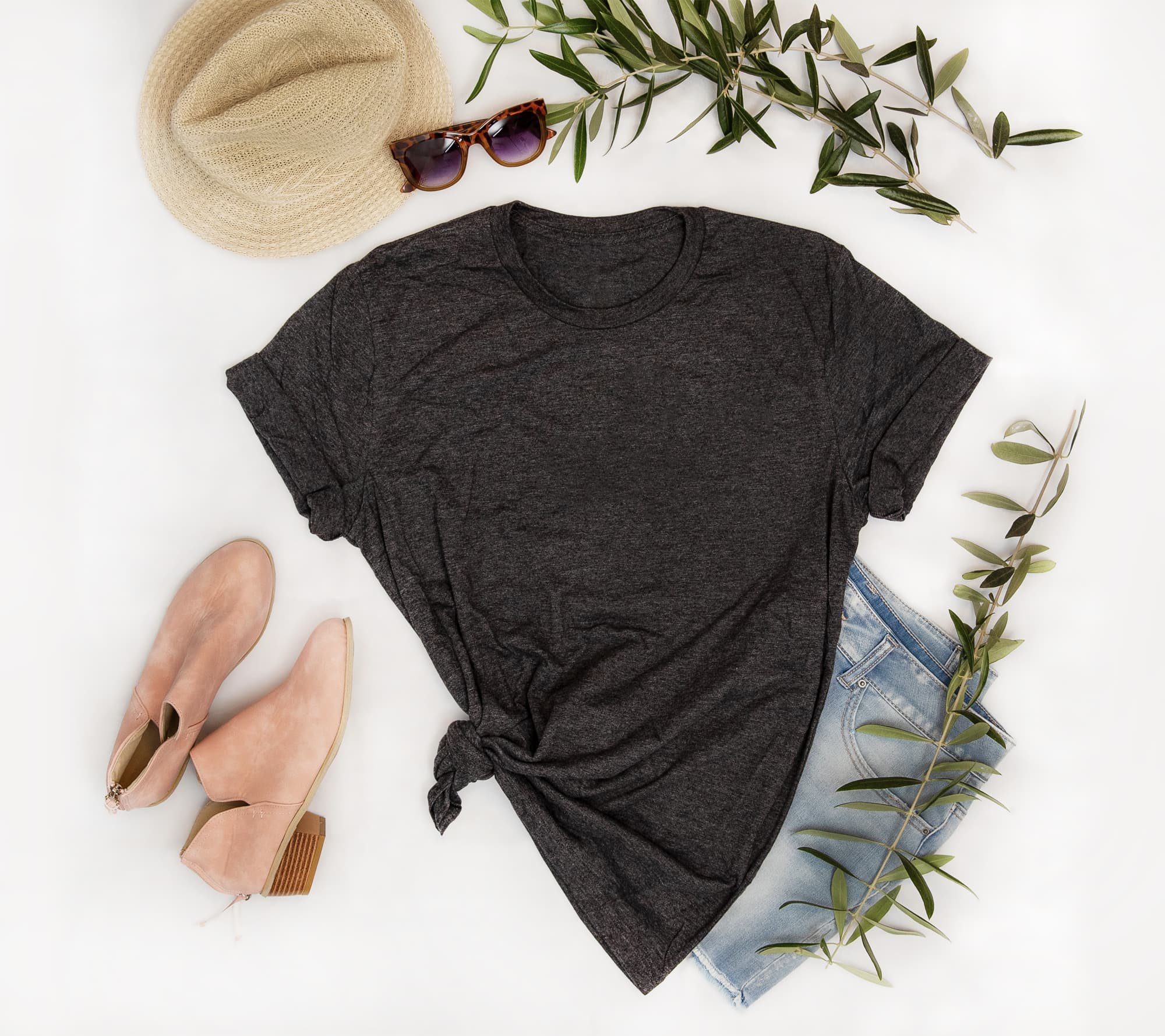 Apparel photography - flat lay of adult outfit