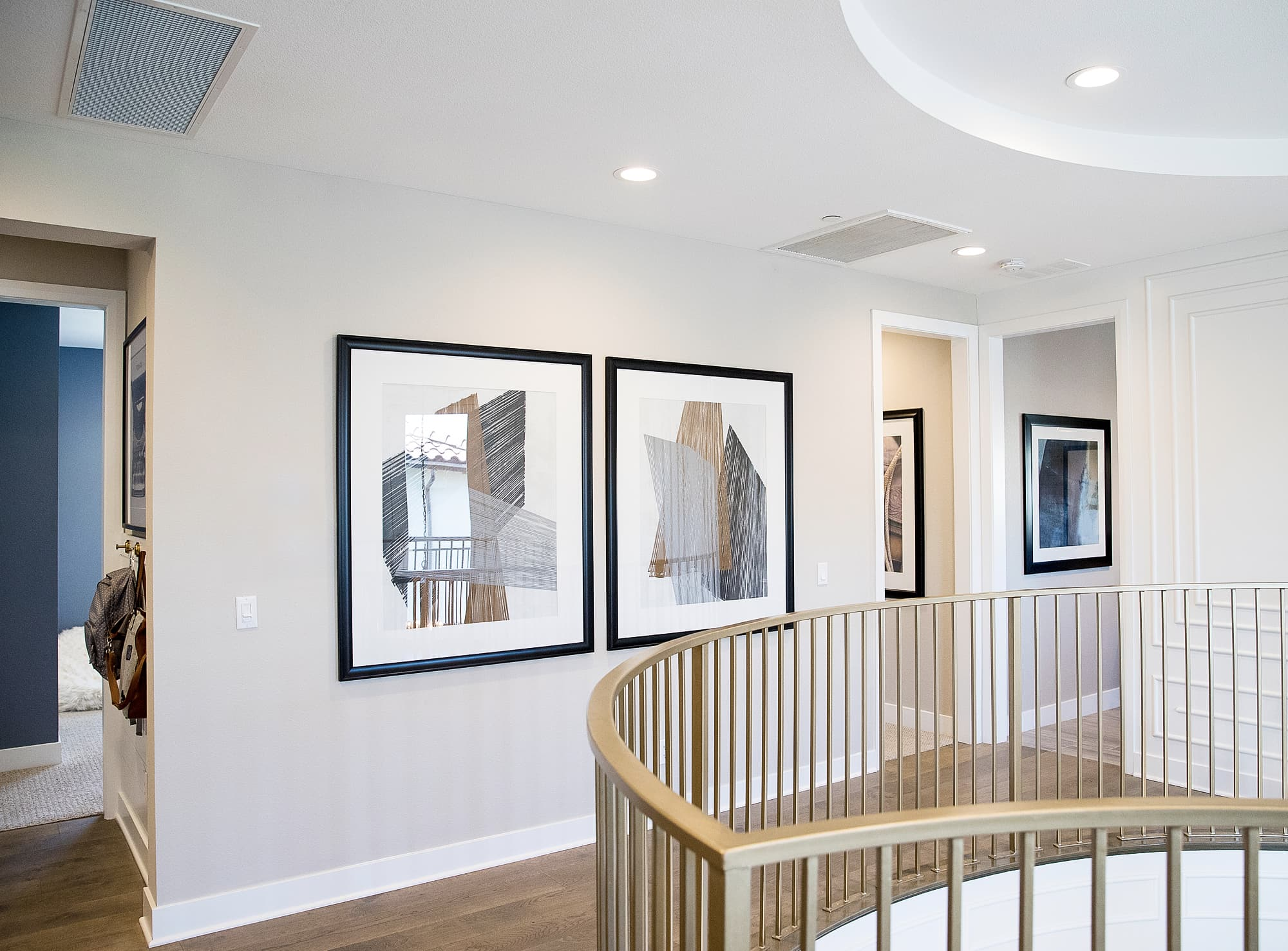 Professional real estate photography: hallway of fancy model home